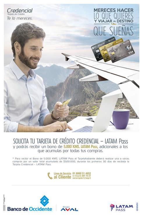 Ofertas de Banco de Occidente, Bono LATAM Pass