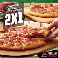 Lunes 2X1 en pizzas medianas