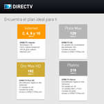 Ofertas de Direct TV, Encuentra el plan ideal para ti