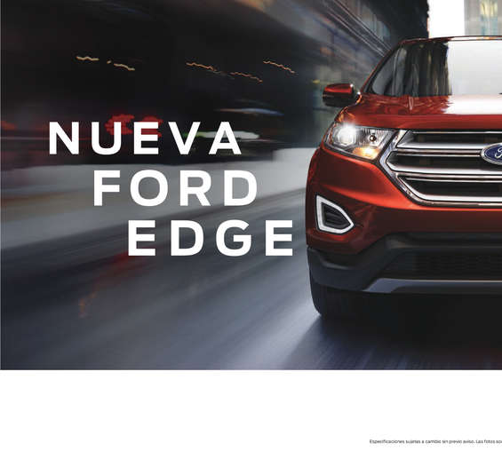Ofertas de Ford, Nueva Ford Edge