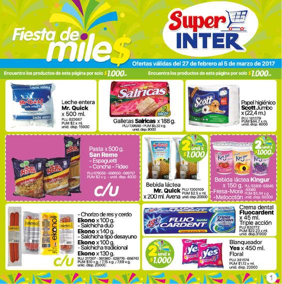 Ofertas de Super Inter, Fiesta de miles - Quindio, Risaralda y Caldas