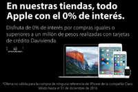 En nuestras tiendas, todo Apple con el 0% de itnerés