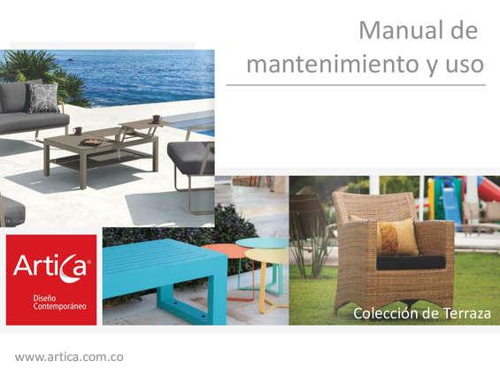 Ofertas de Artica, Manual de mantenimiento y uso - Colección de terraza