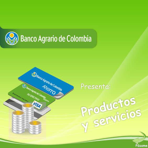Ofertas de Banco Agrario de Colombia, Productos y Servicios