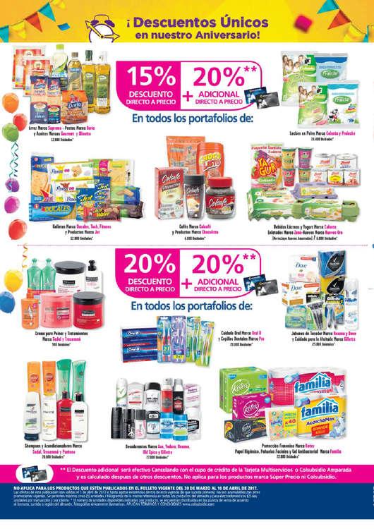 Ofertas de Supermercados Colsubsidio, Madrugón - Aniversario Supermercados Colsubsidio