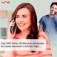 30 minutos mensuales sin costo adiconal a móviles UNE