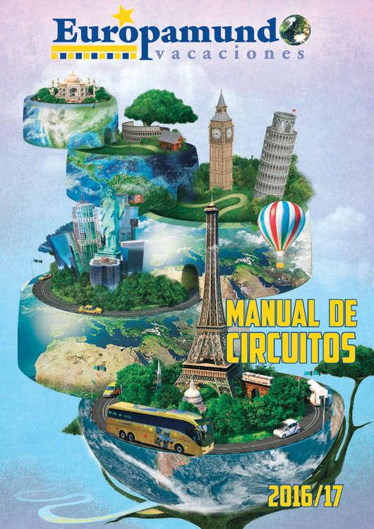 Ofertas de Europamundo, Manual de circuitos 2016/17