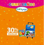 Ofertas de Pepe Ganga, Cumpleaños Pepe Ganga - 30% de descuento en productos escolares
