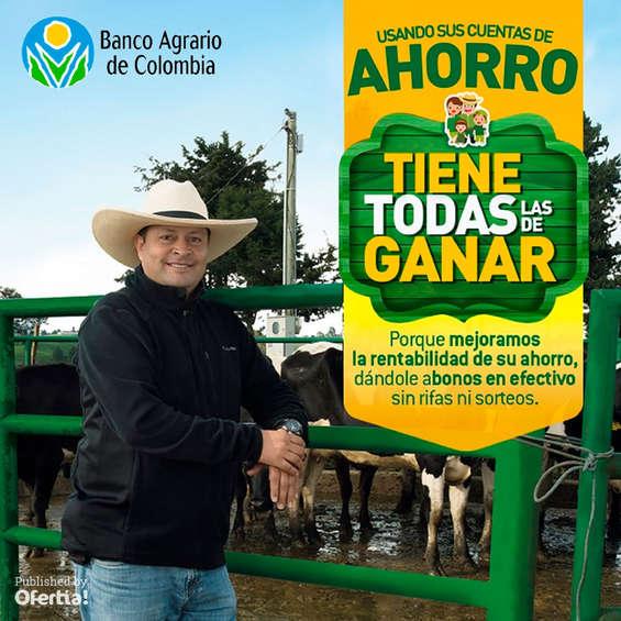 Ofertas de Banco Agrario de Colombia, Ahorrando gana