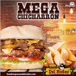 Ofertas de Hamburguesas del Rodeo, Mega Chicharron