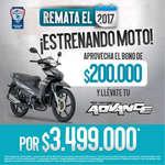 Ofertas de Auteco, Remate el 2017 ¡Estrenando moto!