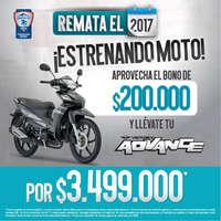 Remate el 2017 ¡Estrenando moto!