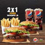 Ofertas de Burger King, 2x1 Combo Whopper