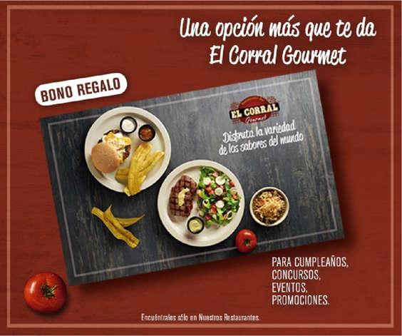 Ofertas de El Corral, Bono Regalo - Una opción más que te da El Corral Gourmet