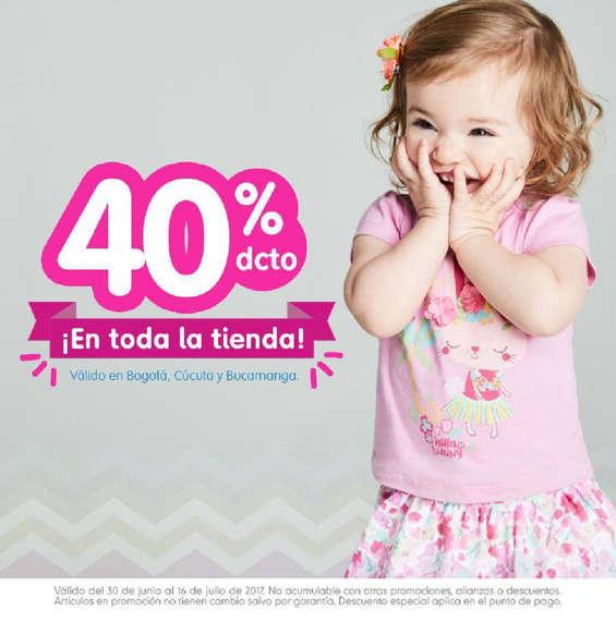 Ofertas de Mothercare, 40%dcto ¡En toda la tienda!