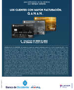 Ofertas de Banco de Occidente, Gana bonos LATAM Pass