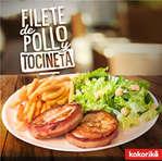 Ofertas de Kokoriko, Filete de pollo y tocineta