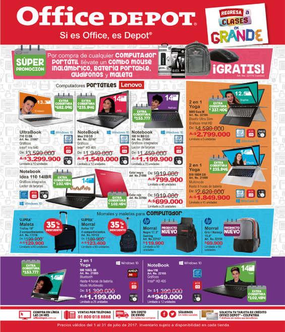 Ofertas de Office Depot, Catálogo - Regreso a Clases Julio 2017