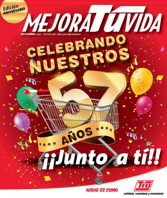 Ofertas de Almacenes Tía, Revista Mejora tu vida - Celebrando nuestros 57 años junto a tí!