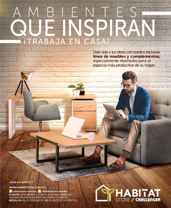 Ofertas de Habitat Store, Ambientes que inspiran ¡trabaja en casa!