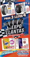 Ofertas de Alkosto, Paga 3 lleva 4 en Expo Llantas