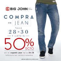 50%dcto en el segundo jean