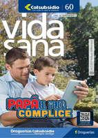 Ofertas de Droguería Colsubsidio, Revista Vida Sana - Papá el mejor cómplice