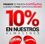 Ofertas de Escape, 10% de descuento presentando tu tarjeta Comfama
