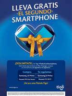 Ofertas de Tigo, Lleva gratis el segundo Smartphone