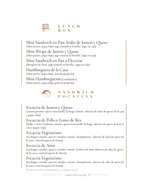 Ofertas de Canela Bakery, Menú Barra de Catering