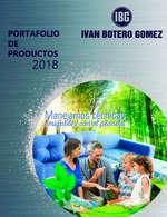 Ofertas de IBG, Portafolio de productos 2018