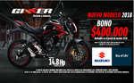 Ofertas de Suzuki Motos, Nuevo Modelo 2018 Gixxer