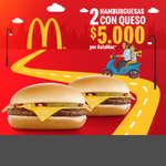 Ofertas de Mc Donald's, 2 Hamburguesas por $5.000