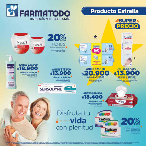 Ofertas de Farmatodo, Producto Estrella