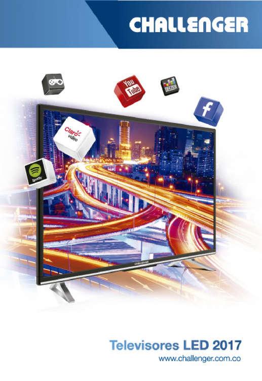 Ofertas de Challenger Salas de Venta, Catálogo Televisores LED 2017